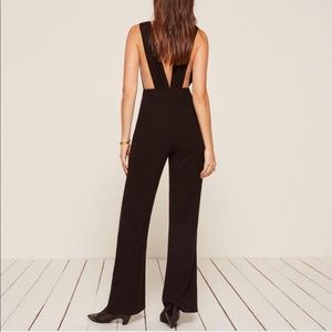 The Reformation Vice Jumpsuit Black XS w/tags